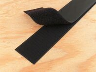 Picture of 1.5 Inch Black Self-Adhesive Hook and Loop Tape - 5 Yards
