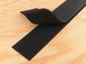 Picture of 2 Inch Black Self-Adhesive Hook and Loop Tape - 5 Yards