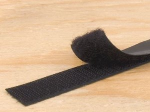 Picture of 3/4 Inch Black Self-Adhesive Hook and Loop Tape - 5 Yards