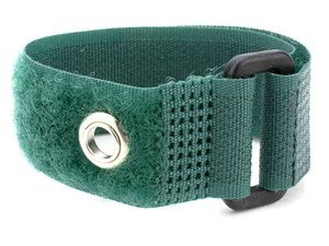 Picture of 18 x 1 Inch Green Cinch Strap with Eyelet - 5 Pack