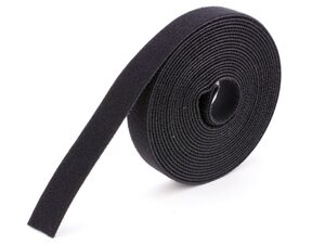 Picture of 1 Inch Continuous Black Hook and Loop Wrap - 10 Yards