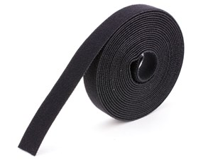 Picture of 1 Inch Continuous Black Hook and Loop Wrap - 25 Yards