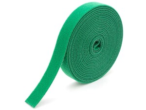 Picture of 1/2 Inch Continuous Green Hook and Loop Wrap - 25 Yards