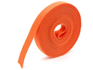 Picture of 3/4 Inch Continuous Orange Hook and Loop Wrap - 5 Yards