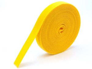 Picture of 3/4 Inch Continuous Yellow Hook and Loop Wrap - 5 Yards