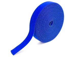 Picture of 3/4 Inch Continuous Blue Hook and Loop Wrap - 10 Yards