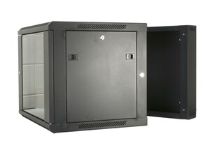 Picture of 9U Swing Out Wall Mount Cabinet - 301 Series, 24 Inches Deep, Fully Assembled