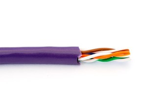 Picture of Cat5e 350Mhz Network Cable - Stranded, Purple, Riser (CMR) PVC - 1000 FT
