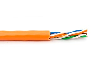 Picture of CAT6 550Mhz Network Cable - Stranded, Orange, Riser (CMR) PVC - 1000 FT
