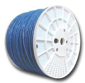 Picture of CAT5e 350 MHz Network Cable - Stranded, Blue, PVC - 1000 FT