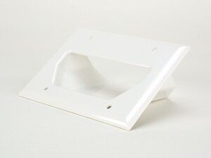 Picture of 3-Gang Recessed Low Voltage Cable Plate - White