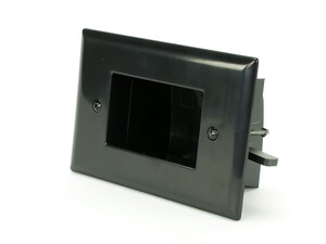 Picture of Easy Mount Recessed Low Voltage Cable Plate - Black