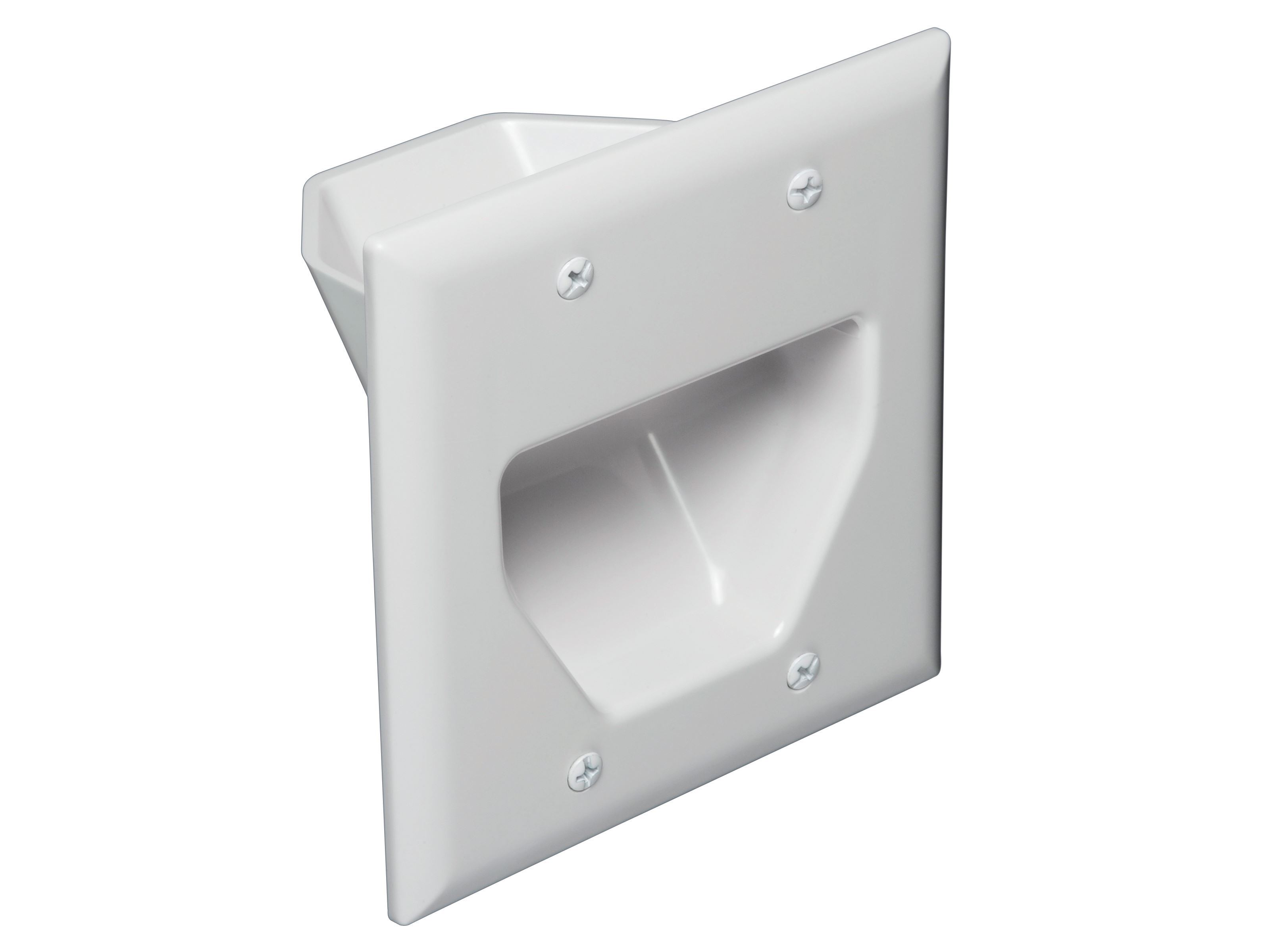 Summit 2 Gang Low Voltage Plate Mounting Bracket Double Plastic Box Wall Plate