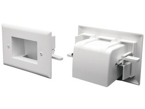 Picture of Easy Mount Recessed Low Voltage Cable Plate - White