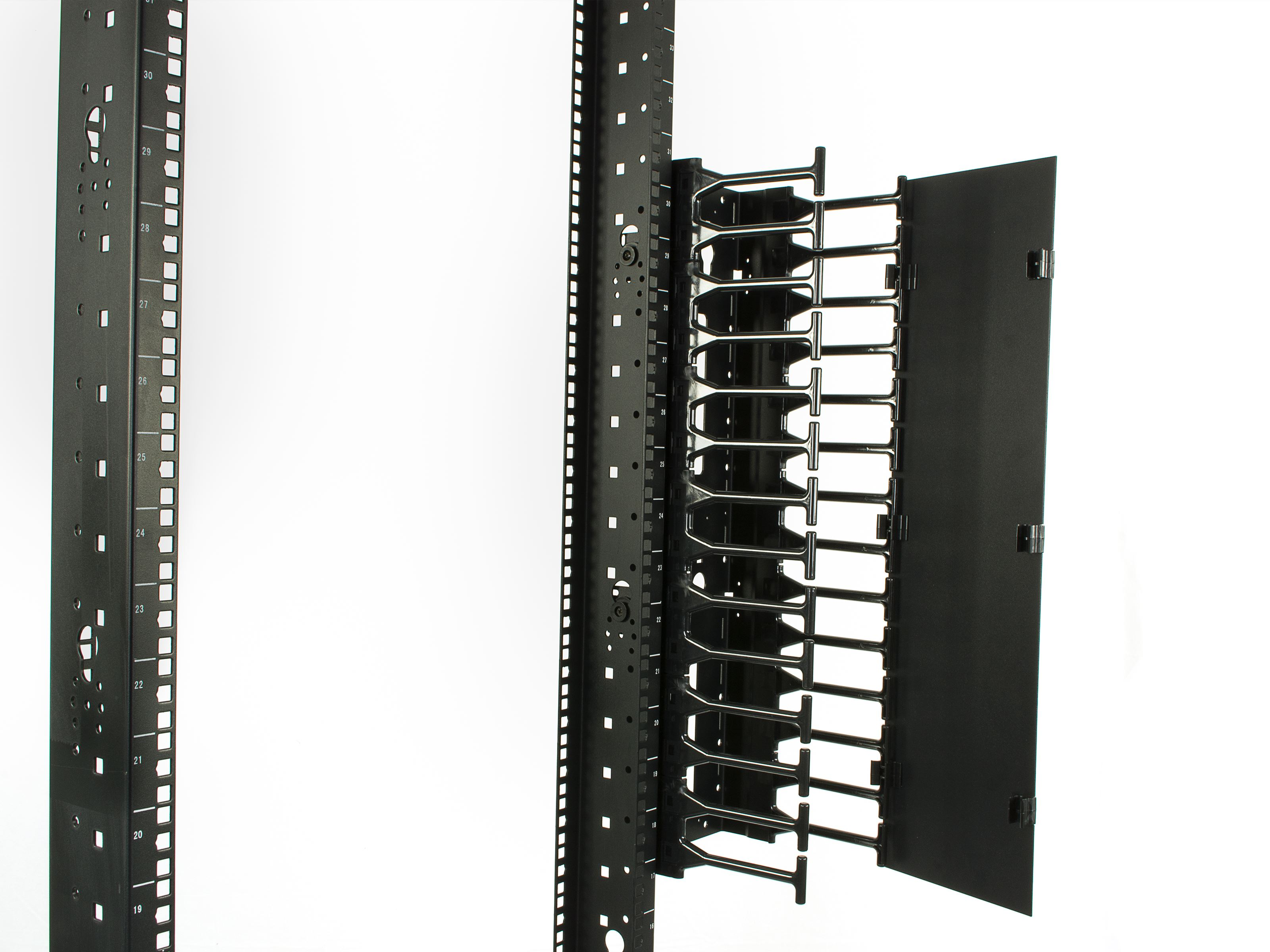 2-Post Network Relay Rack 45U Steel M6 Rails | Computer Cable Store
