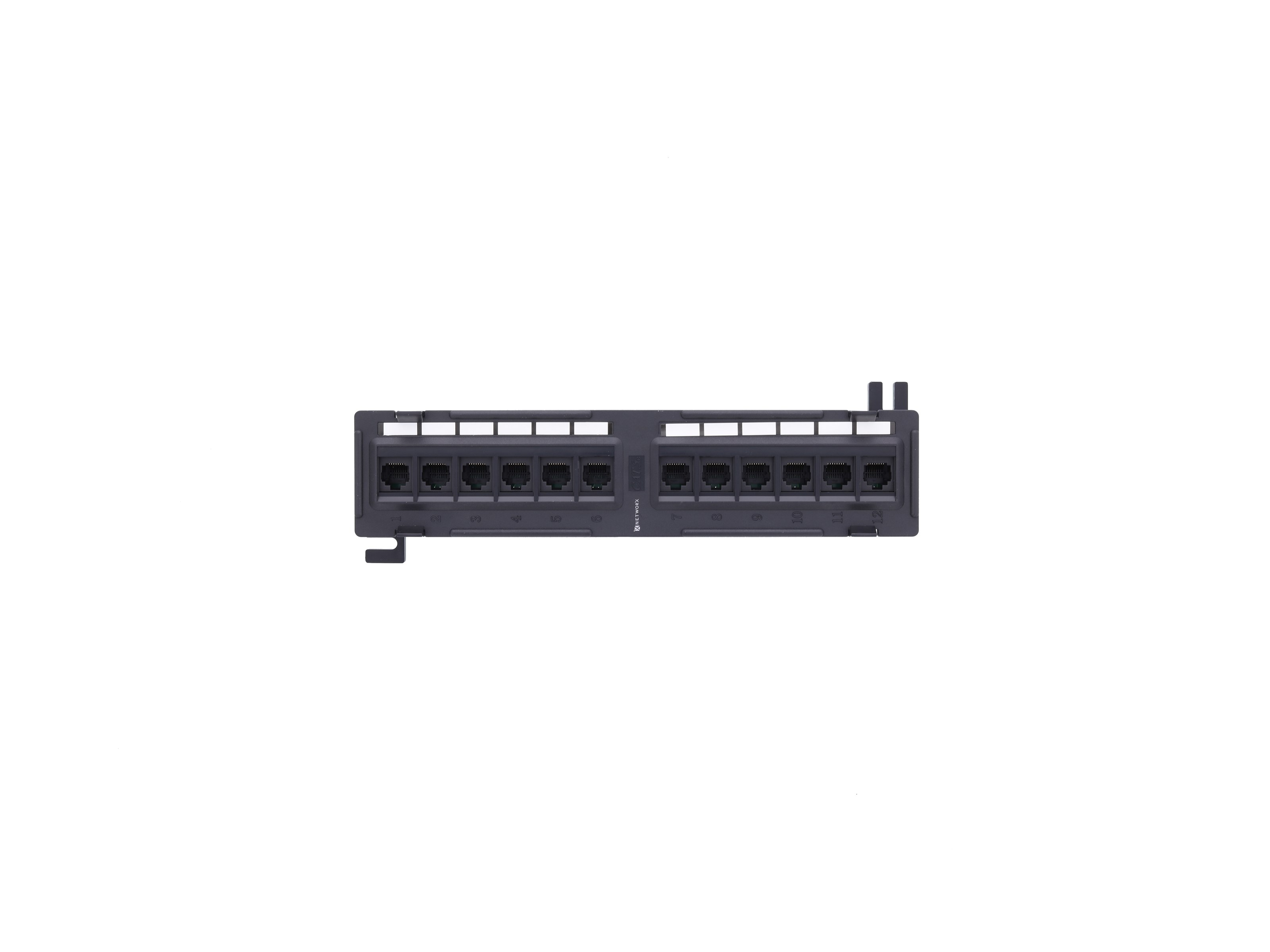 Cat 5e Mini 12-Port Patch Panel with 89D Mounting Bracket