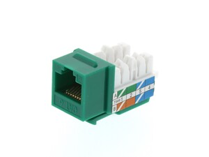 Picture of CAT6 Keystone Jack 90 Degree 110 UTP - Green