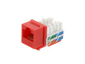 Picture of CAT6 Keystone Jack 90 Degree 110 UTP - Red