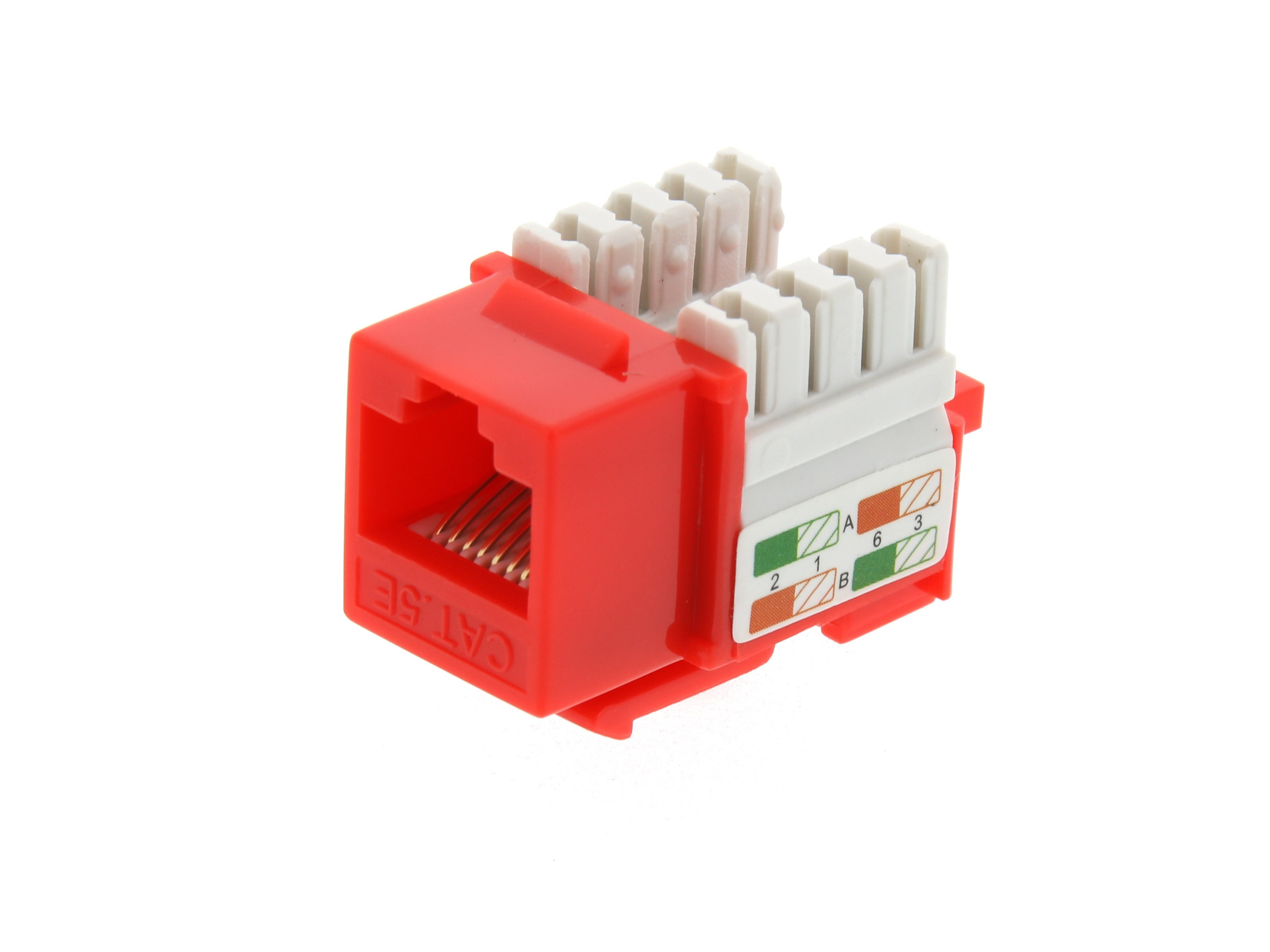 Cat5e Keystone Jack 90 Degree 110 Utp Red Computer Cable Store Wire Diagram Picture Of