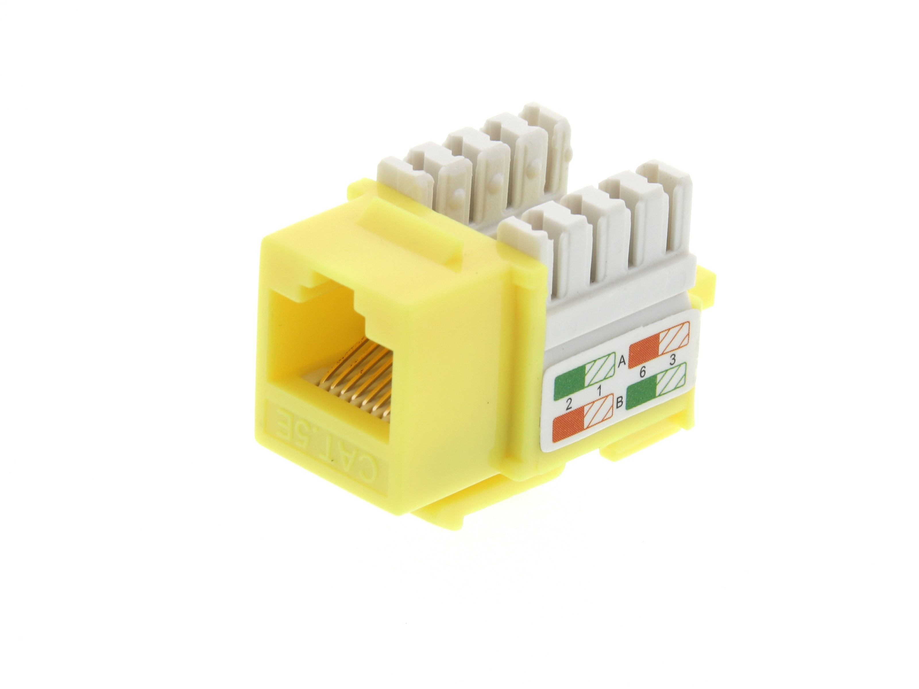Cat5e Keystone Jack 90 Degree 110 Utp Yellow Computer Cable Store Wire Diagram Picture Of