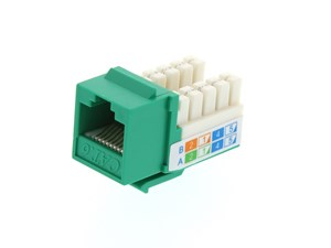 Picture of CAT6 SpeedTerm™ Keystone Jack 90 Degree 110 UTP - Green