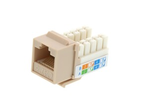 Picture of CAT6 SpeedTerm™ Keystone Jack 90 Degree 110 UTP - Ivory