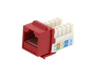 Picture of CAT6 SpeedTerm™ Keystone Jack 90 Degree 110 UTP - Red