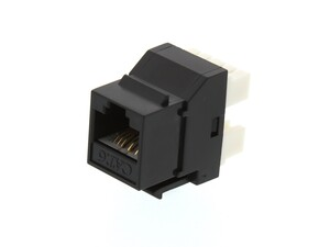 Picture of CAT6 SpeedTerm™ Keystone Jack 180 Degree 110 UTP - Black
