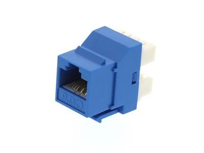 Picture of CAT6 SpeedTerm™ Keystone Jack 180 Degree 110 UTP - Blue