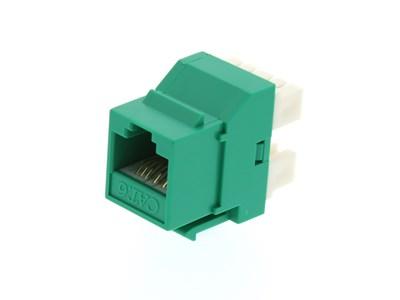 Picture of CAT6 SpeedTerm™ Keystone Jack 180 Degree 110 UTP - Green