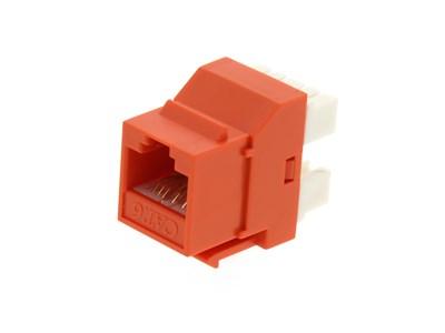 Picture of CAT6 SpeedTerm™ Keystone Jack 180 Degree 110 UTP - Orange