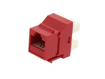 Picture of CAT6 SpeedTerm™ Keystone Jack 180 Degree 110 UTP - Red