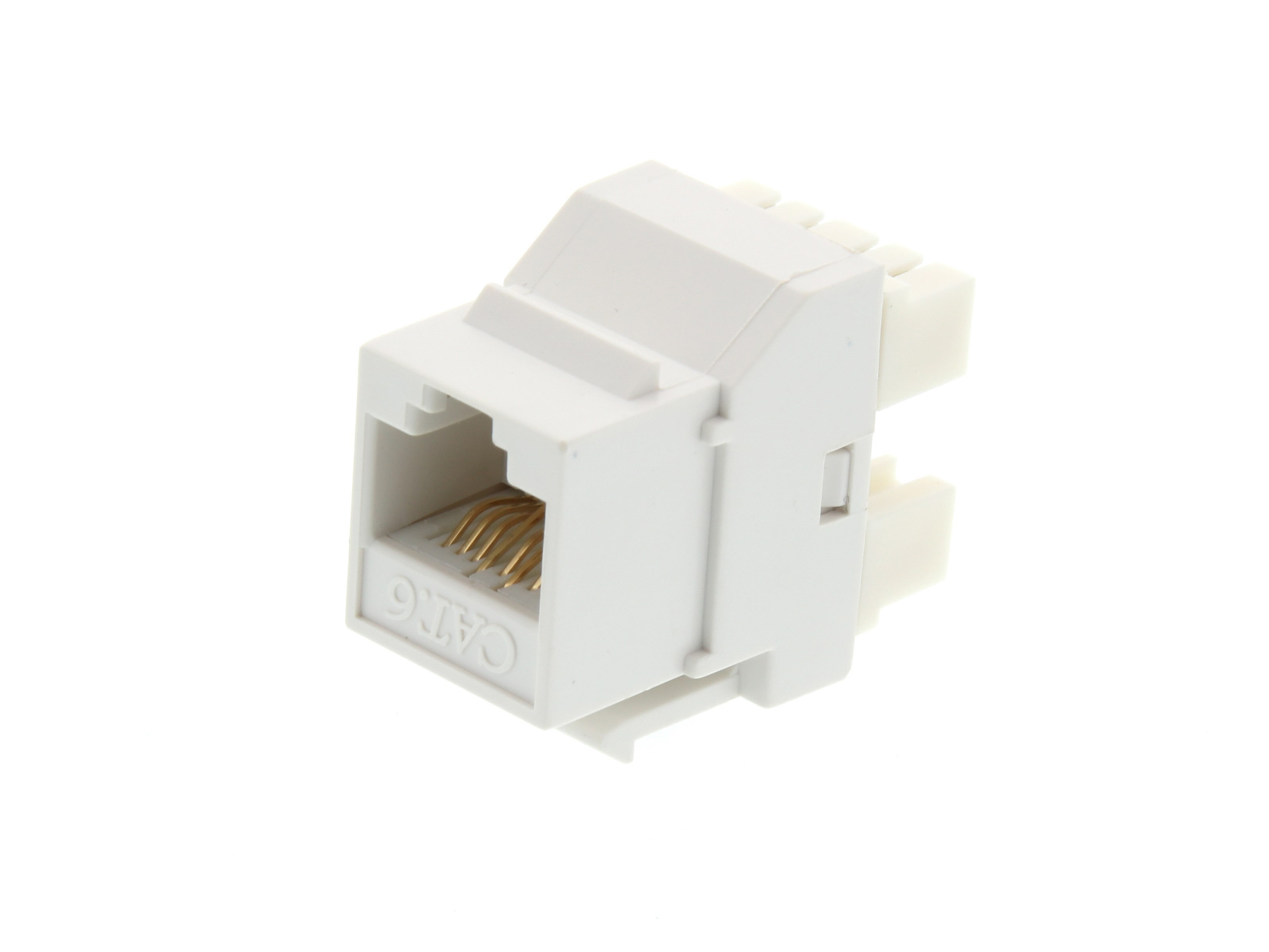 Picture of CAT6 SpeedTerm™ Keystone Jack 180 Degree 110 UTP - White