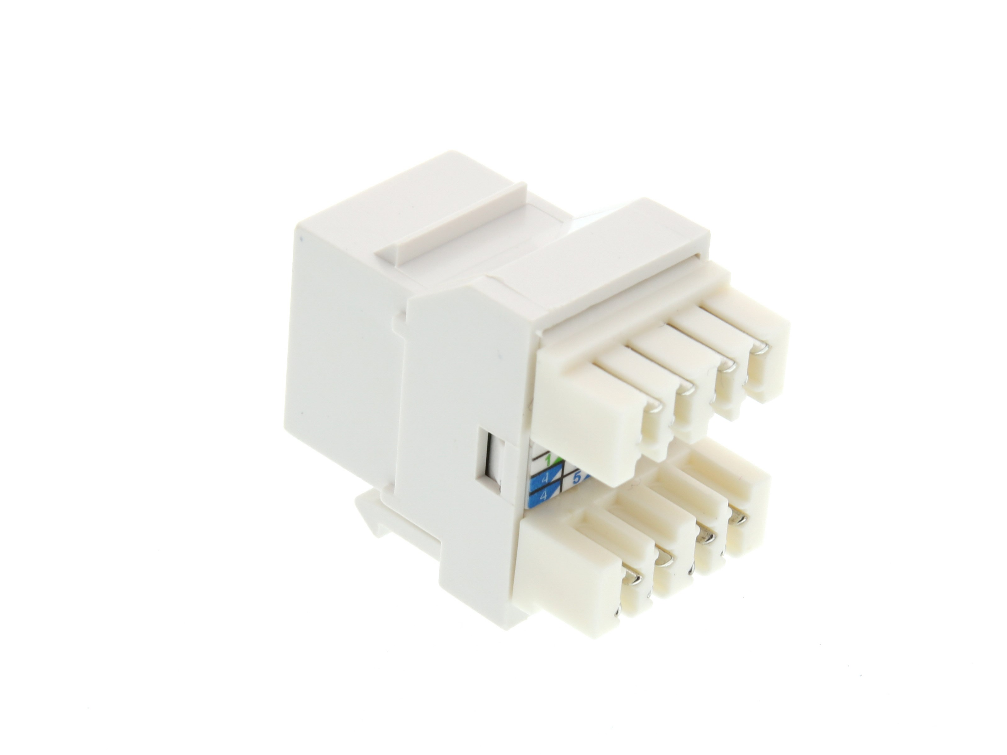 Cat6 Speedterm Keystone Jack 180 Degree 110 Utp White Computer Rj45 Connector Cat 6 Modular Plug Picture Of
