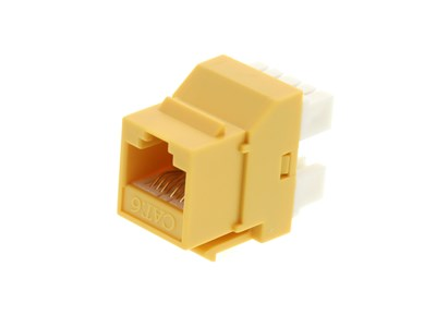 Picture of CAT6 SpeedTerm Keystone Jack 180 Degree 110 UTP - Yellow