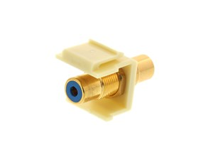 Picture of Feed Through Keystone Jack - RCA (Component / Composite) - Ivory - Color Coded Blue