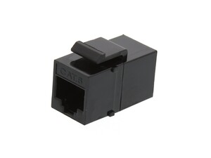 Picture of RJ45 Cat6 Keystone Jack - Pass Through Panel Mount - Black