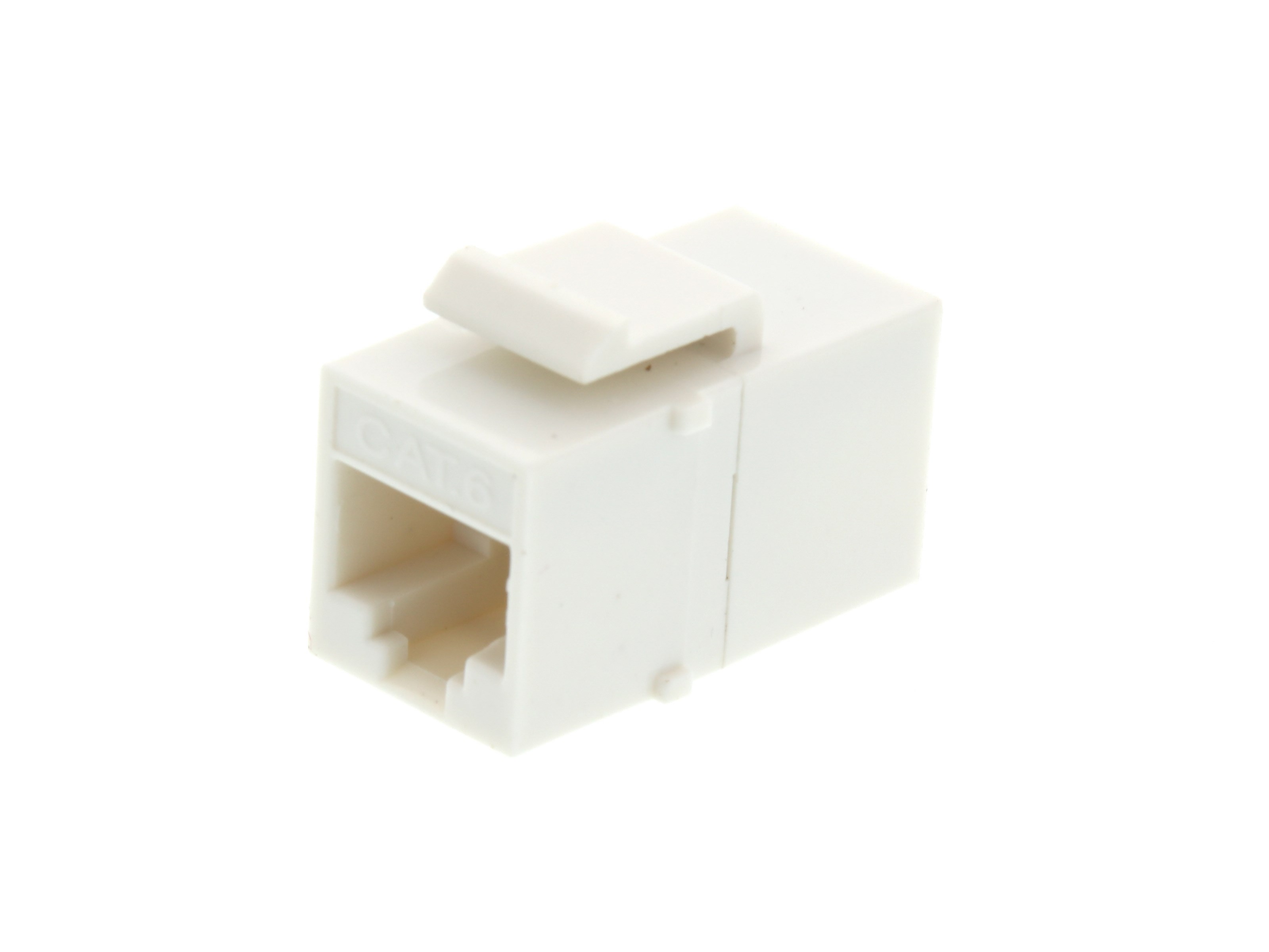 Rj45 Cat6 Keystone Jack Pass Through Panel Mount White Connector Cat 6 Modular Plug Picture Of