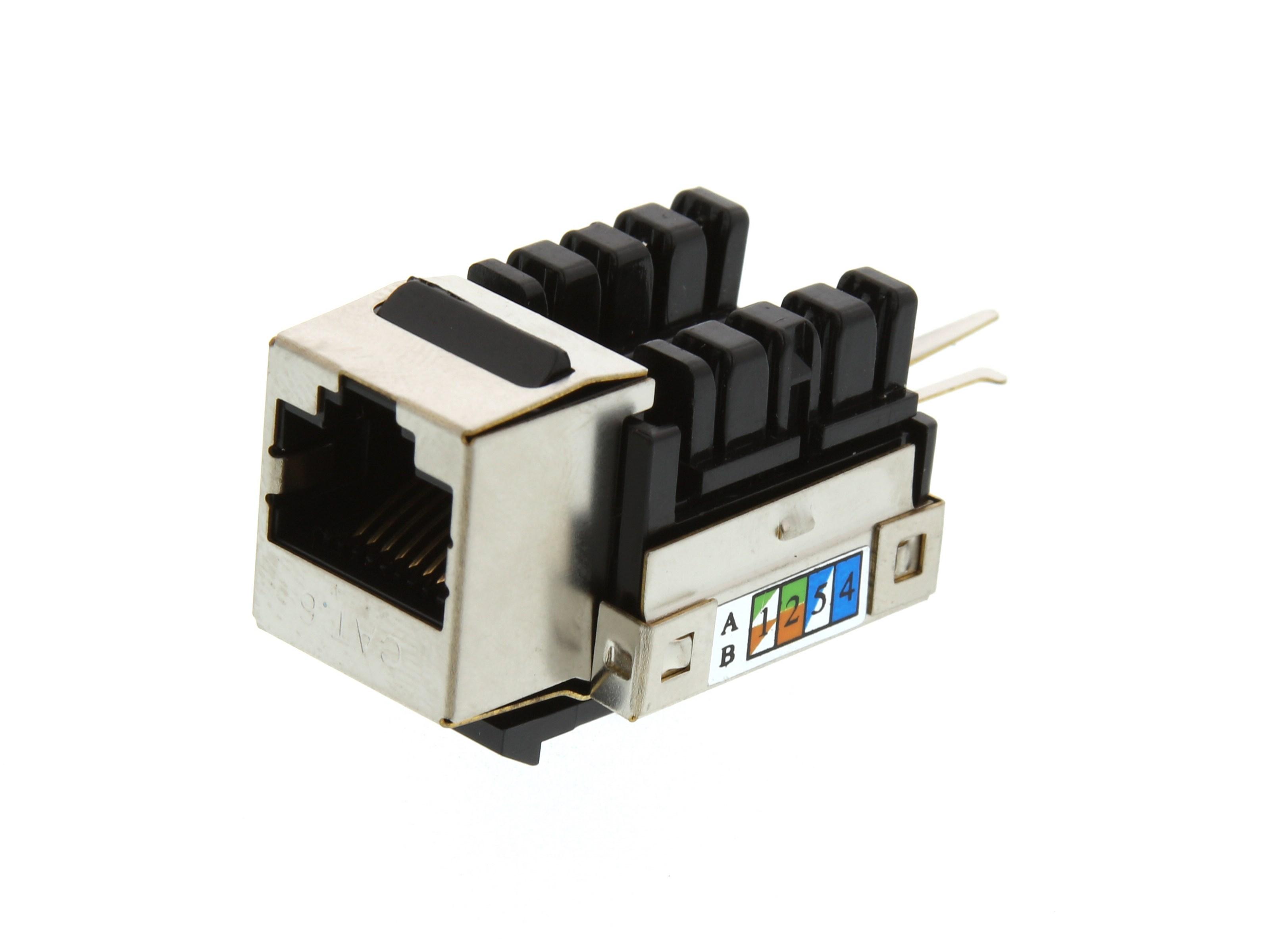 Ivory 2 Pack Lot CAT5e RJ45 110 Punch Down Keystone Modular Snap-In Jacks