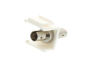 Picture of Fiber Optic Keystone Coupler - ST to ST Singlemode Simplex - White