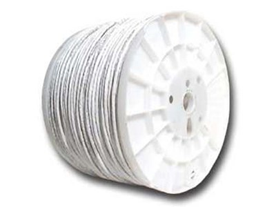 Cat6 600 Mhz Network Cable - Stranded - White PVC - 1000 FT