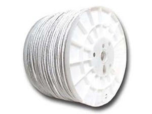 Picture of Cat6 600 Mhz Network Cable - Stranded - White PVC - 1000 FT
