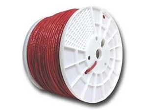 Picture of Cat6 600 Mhz Network Cable - Stranded - Red PVC - 1000 FT