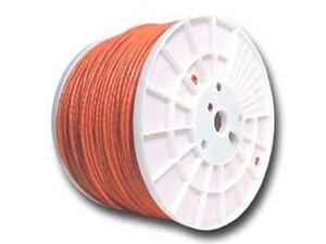 Picture of Cat6 600Mhz Network Cable - Stranded - Orange PVC - 1000 FT