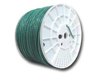 Picture of Cat6 600Mhz Network Cable - Stranded - Green PVC - 1000 FT