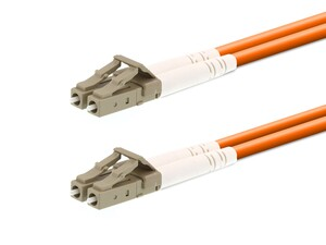 Picture of 15m Multimode Duplex Fiber Optic Patch Cable (62.5/125) - LC to LC