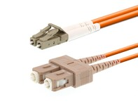 Picture of 1m Multimode Duplex Fiber Optic Patch Cable (50/125) - LC to SC