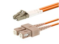 Picture of 20m Multimode Duplex Fiber Optic Patch Cable (50/125) - LC to SC