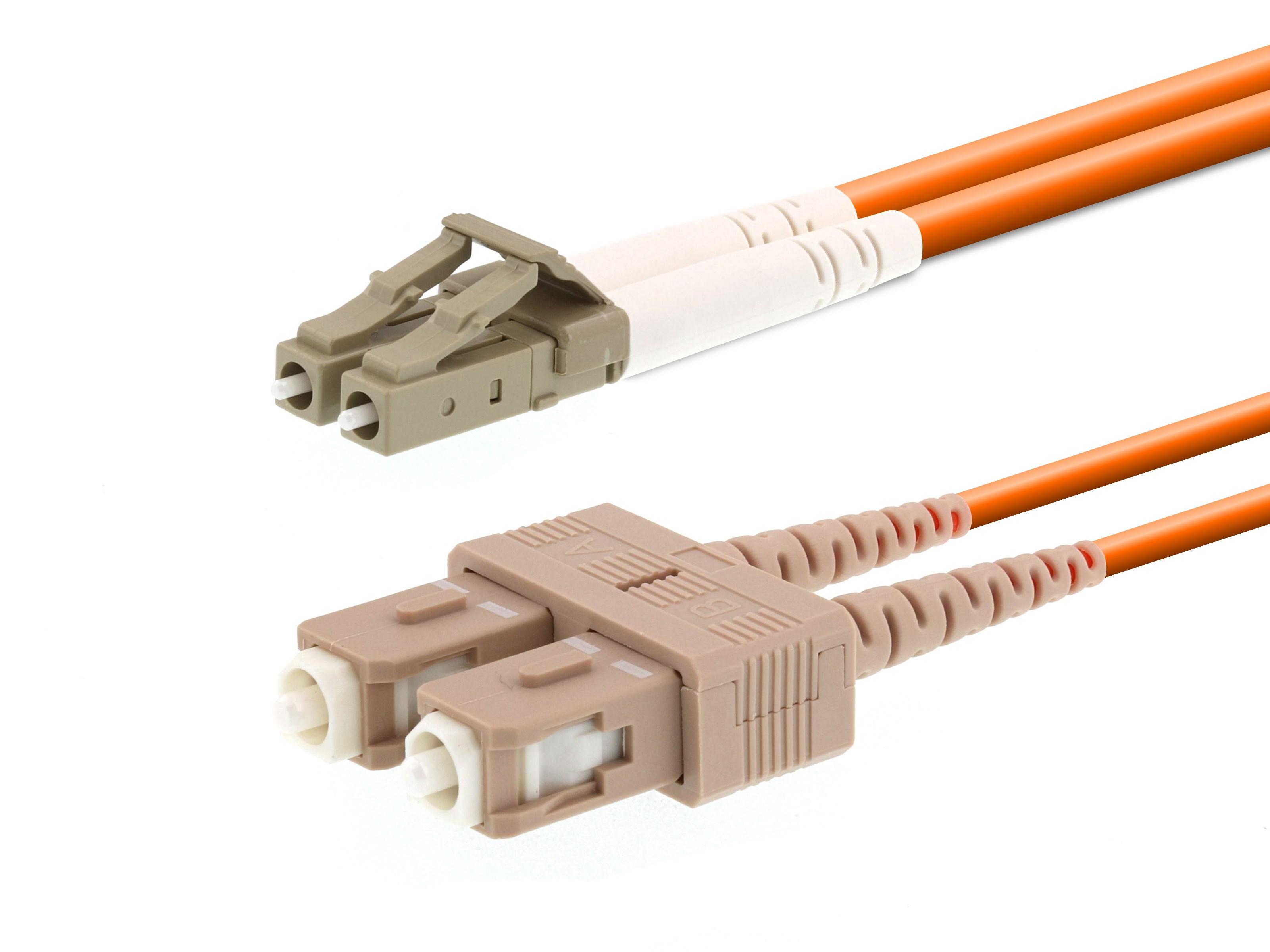 Lichtwellenleiter 25 Meter 25m OM5 LC//UPC-LC//UPC Duplex 50//125 Patchkabel CONBIC/® LWL Glasfaser-Kabel