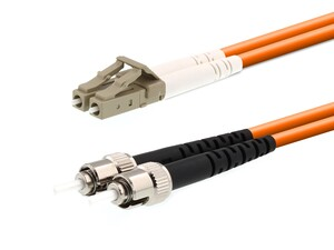 Picture of 7m Multimode Duplex Fiber Optic Patch Cable (50/125) - LC to ST